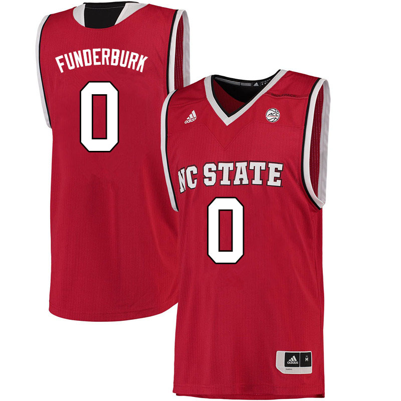 Men #0 DJ Funderburk NC State Wolfpack College Basketball Jerseys Sale-Red