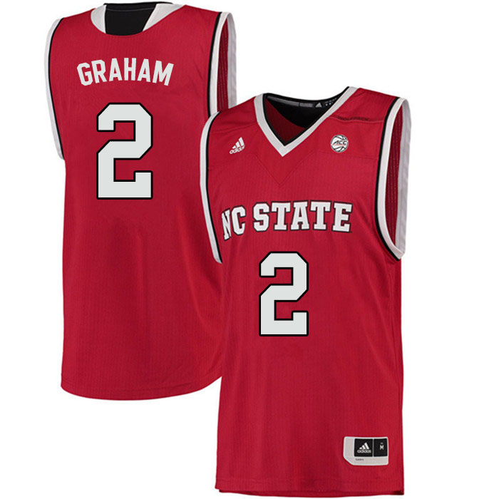Men #2 Chase Graham NC State Wolfpack College Basketball Jerseys Sale-Red