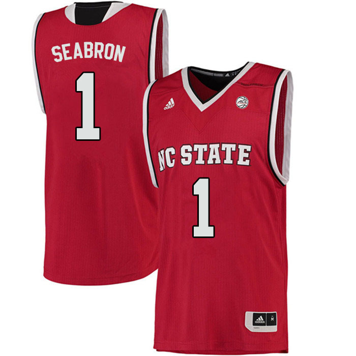 Men #1 Dereon Seabron NC State Wolfpack College Basketball Jerseys Sale-Red