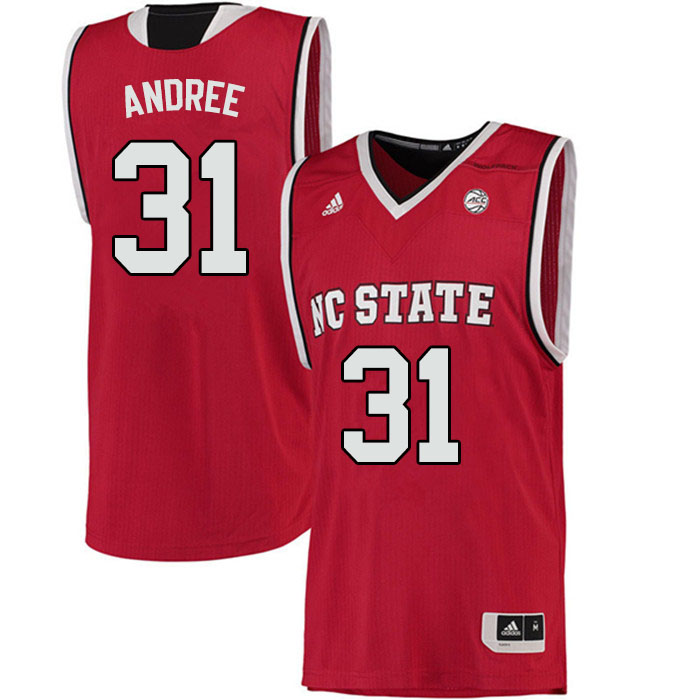 Men #31 Pat Andree NC State Wolfpack College Basketball Jerseys Sale-Red