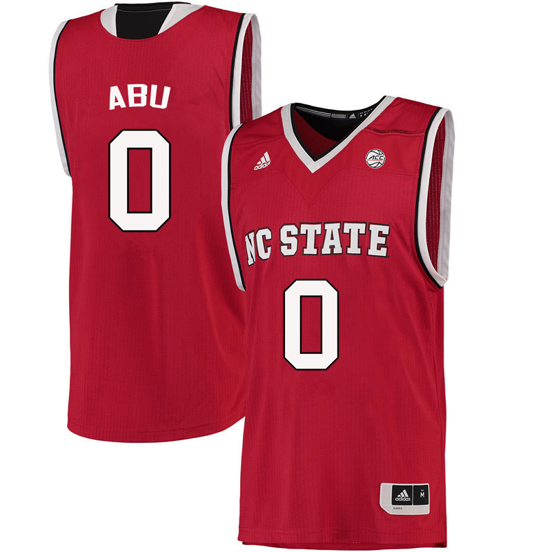 Men NC State Wolfpack #0 Abdul-Malik Abu College Basketball Jerseys-Red