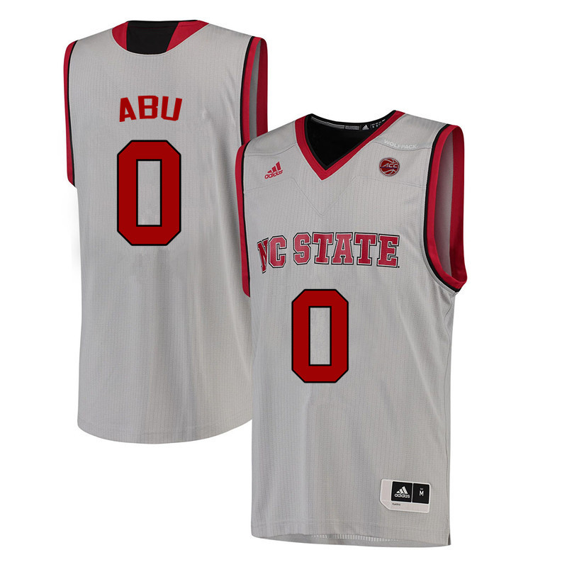 Men NC State Wolfpack #0 Abdul-Malik Abu College Basketball Jerseys-White