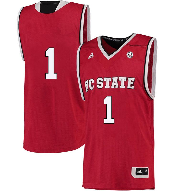 Men #1 Aislinn Konig NC State Wolfpack College Basketball Jerseys-Red