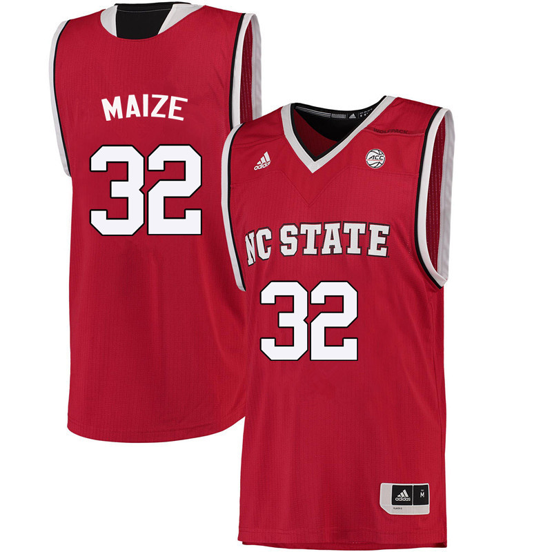 Men NC State Wolfpack #32 Akela Maize College Basketball Jerseys-Red