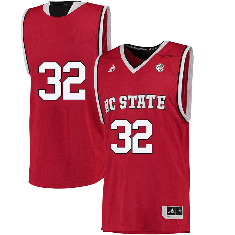 Men #32 Akela Maize NC State Wolfpack College Basketball Jerseys-Red