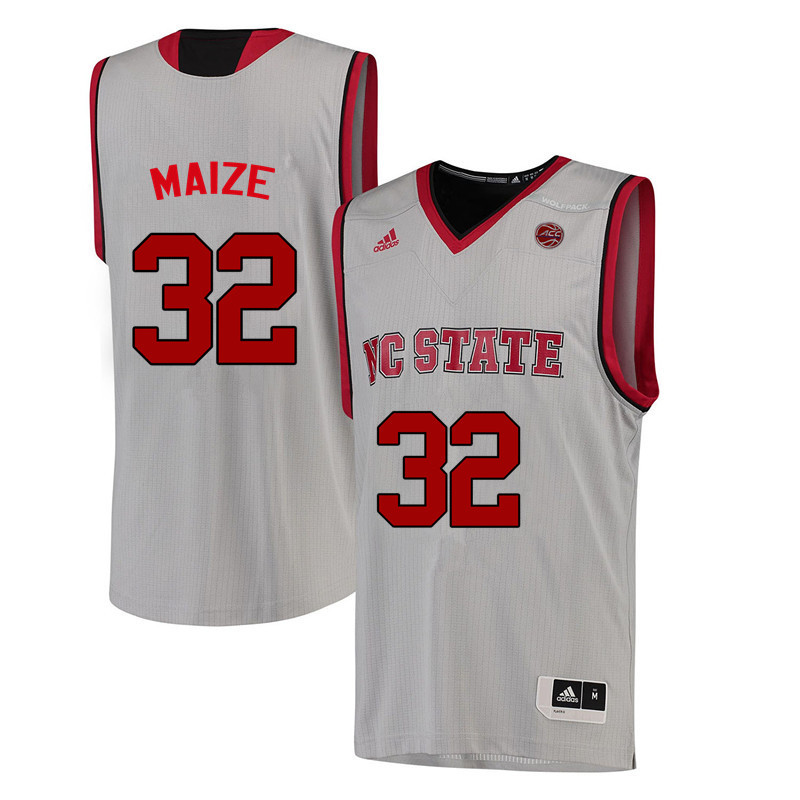 Men NC State Wolfpack #32 Akela Maize College Basketball Jerseys-White