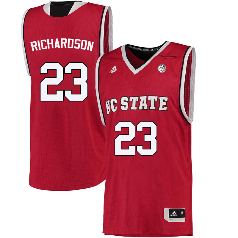 Men NC State Wolfpack #23 Amber Richardson College Basketball Jerseys-Red