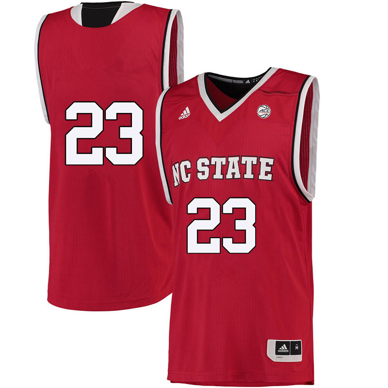 Men #23 Amber Richardson NC State Wolfpack College Basketball Jerseys-Red