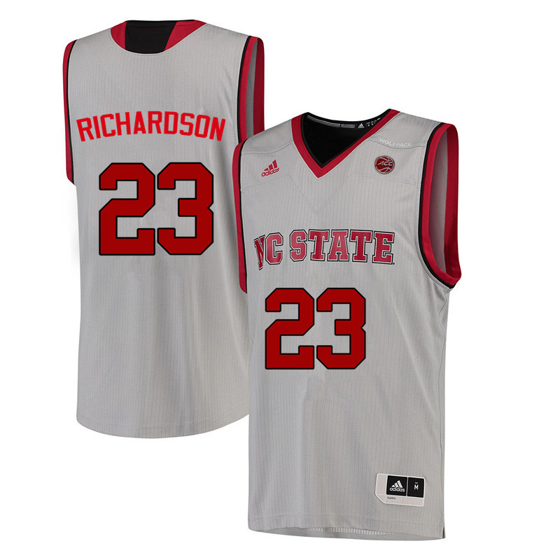 Men NC State Wolfpack #23 Amber Richardson College Basketball Jerseys-White