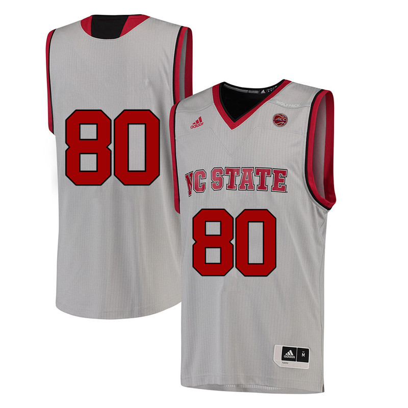 Men #80 Bobby Speight NC State Wolfpack College Basketball Jerseys-White
