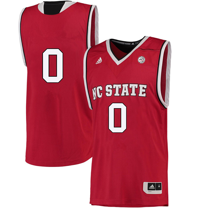 Men #0 Camille Anderson NC State Wolfpack College Basketball Jerseys-Red