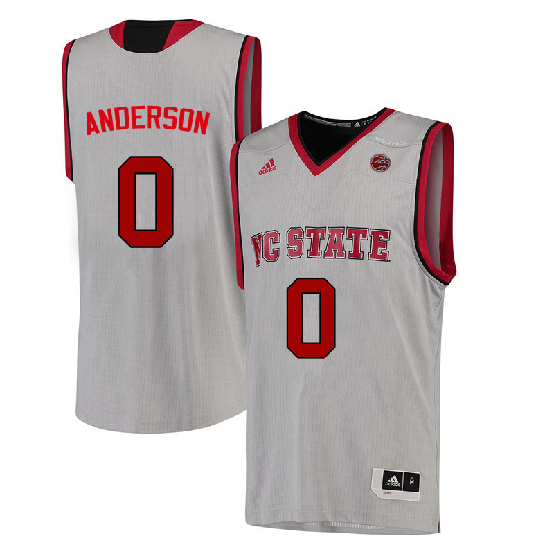 Men NC State Wolfpack #0 Camille Anderson College Basketball Jerseys-White