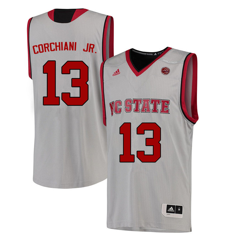 Men NC State Wolfpack #13 Chris Corchiani Jr. College Basketball Jerseys-White