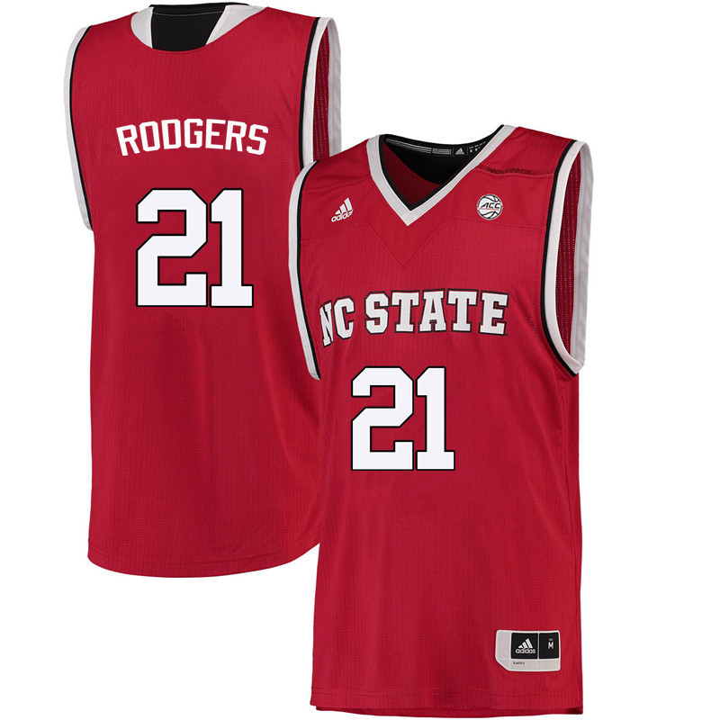 Men NC State Wolfpack #21 DD Rodgers College Basketball Jerseys-Red