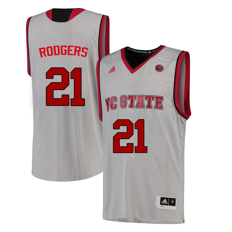 Men NC State Wolfpack #21 DD Rodgers College Basketball Jerseys-White