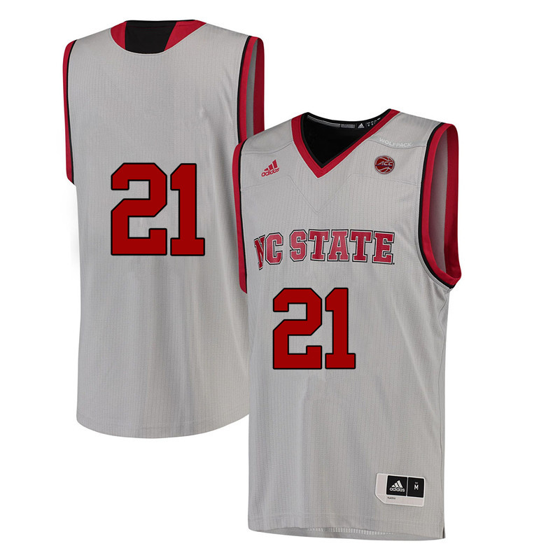 Men #21 DD Rodgers NC State Wolfpack College Basketball Jerseys-White