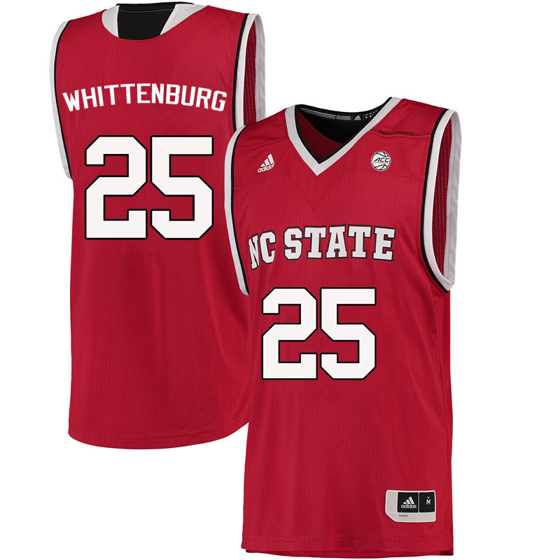 Men NC State Wolfpack #25 Dereck Whittenburg College Basketball Jerseys-Red