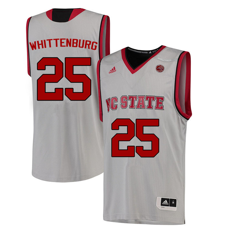 Men NC State Wolfpack #25 Dereck Whittenburg College Basketball Jerseys-White