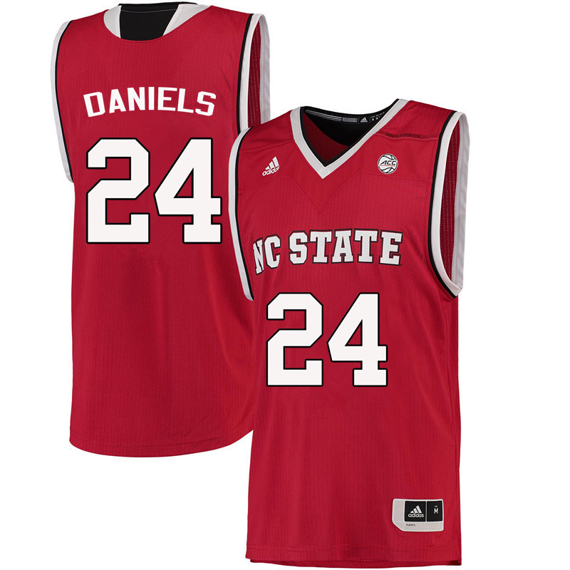 Men NC State Wolfpack #24 Devon Daniels College Basketball Jerseys-Red