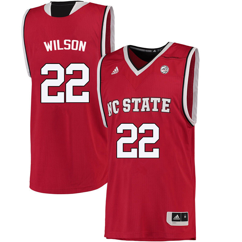 Men NC State Wolfpack #22 Dominique Wilson College Basketball Jerseys-Red