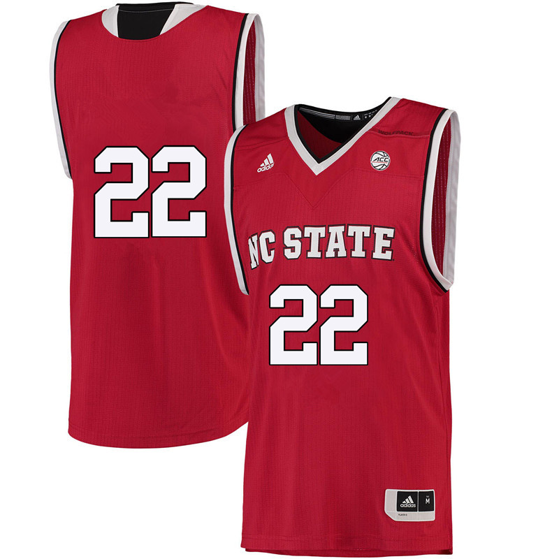 Men #22 Dominique Wilson NC State Wolfpack College Basketball Jerseys-Red