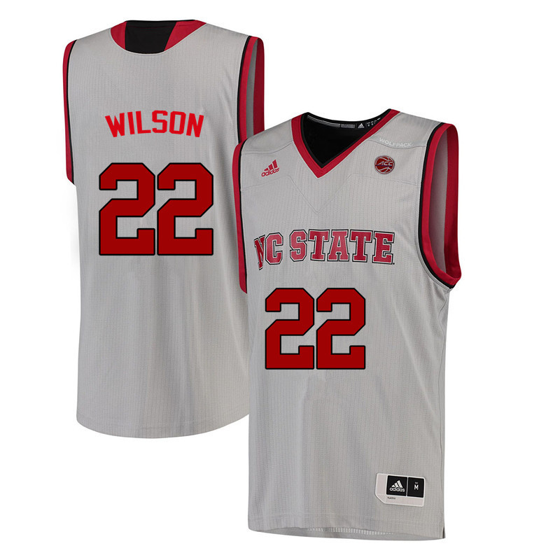 Men NC State Wolfpack #22 Dominique Wilson College Basketball Jerseys-White