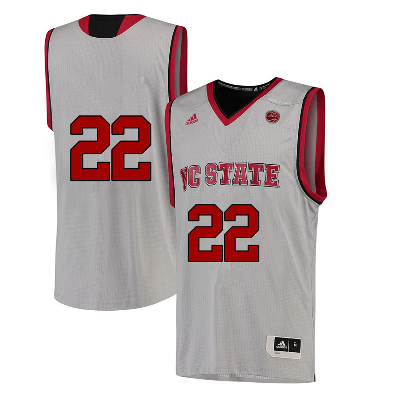 Men #22 Dominique Wilson NC State Wolfpack College Basketball Jerseys-White