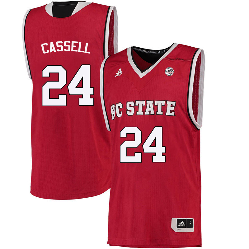 Men NC State Wolfpack #24 Erika Cassell College Basketball Jerseys-Red