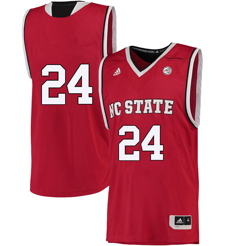 Men #24 Erika Cassell NC State Wolfpack College Basketball Jerseys-Red