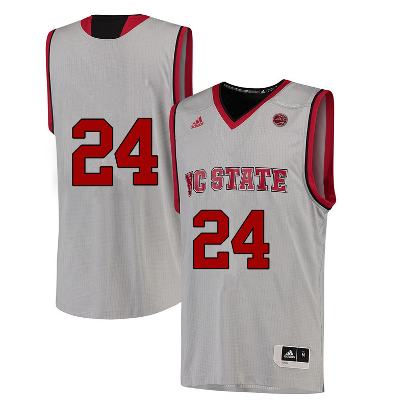 Men #24 Erika Cassell NC State Wolfpack College Basketball Jerseys-White