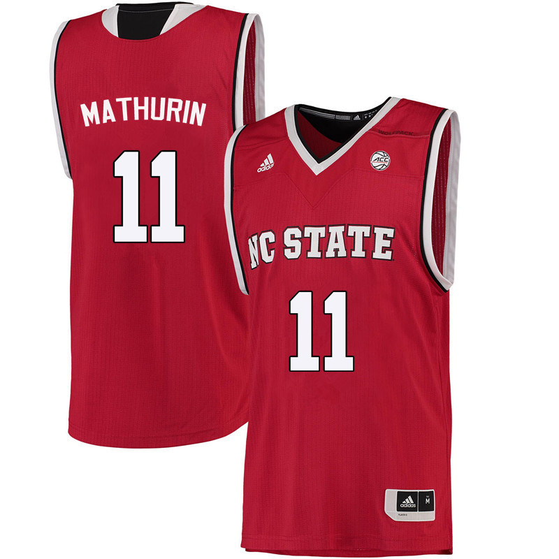 Men NC State Wolfpack #11 Jennifer Mathurin College Basketball Jerseys-Red