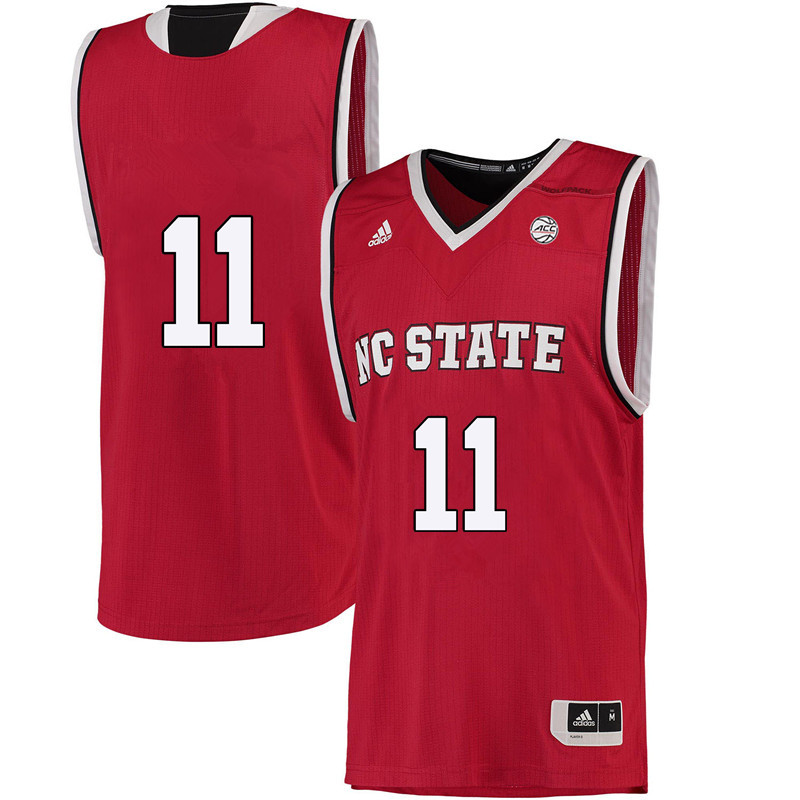 Men #11 Jennifer Mathurin NC State Wolfpack College Basketball Jerseys-Red