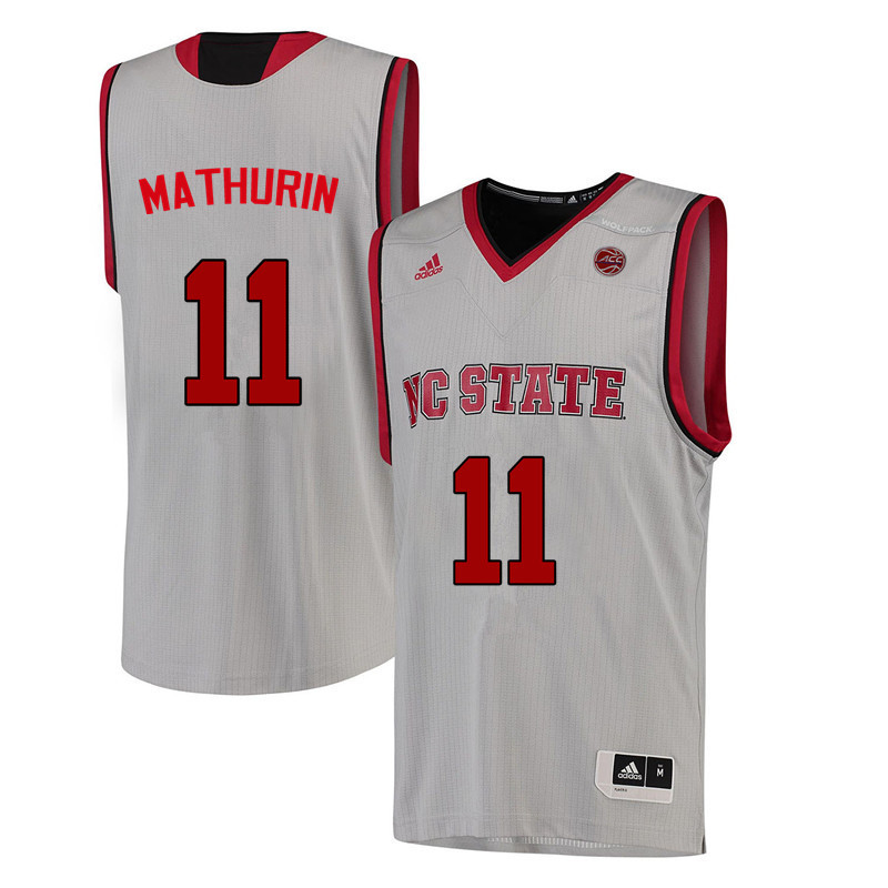 Men NC State Wolfpack #11 Jennifer Mathurin College Basketball Jerseys-White