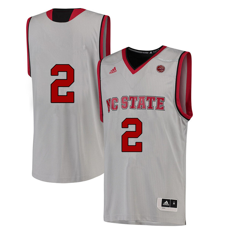 Men #2 Kaila Ealey NC State Wolfpack College Basketball Jerseys-White