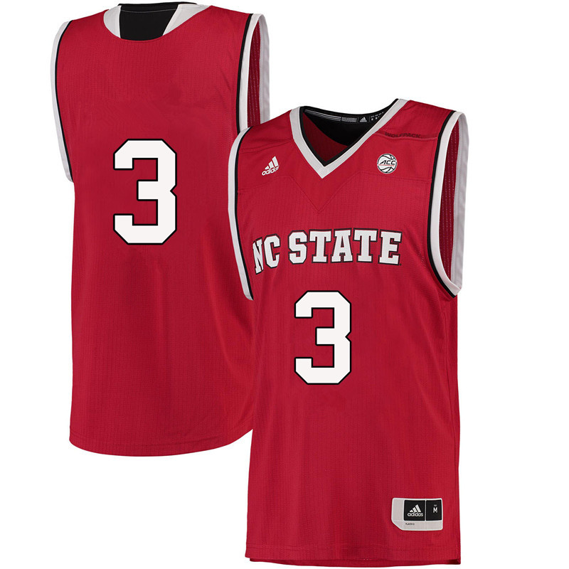 Men #3 Lavar Batts Jr. NC State Wolfpack College Basketball Jerseys-Red