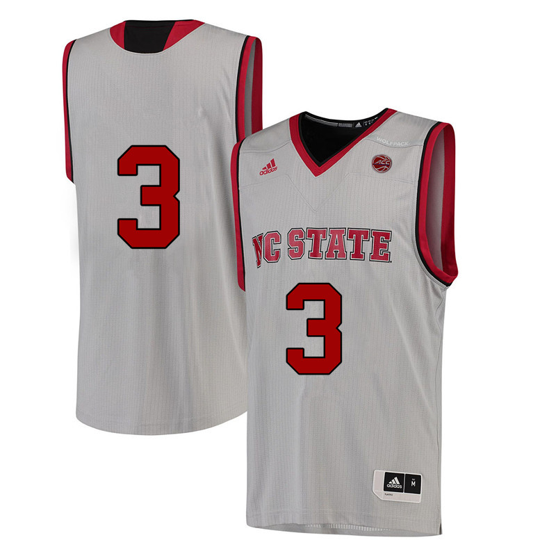 Men #3 Lavar Batts Jr. NC State Wolfpack College Basketball Jerseys-White