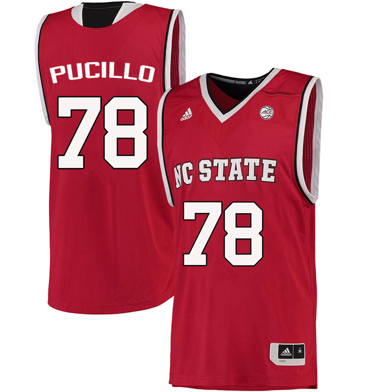 Men NC State Wolfpack #78 Lou Pucillo College Basketball Jerseys-Red