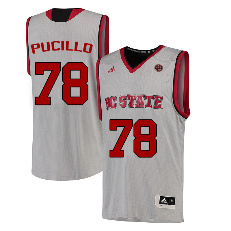 Men NC State Wolfpack #78 Lou Pucillo College Basketball Jerseys-White