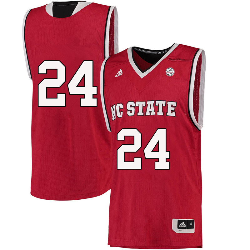 Men #24 Maverick Rowan NC State Wolfpack College Basketball Jerseys-Red