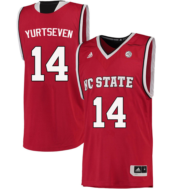 Men NC State Wolfpack #14 Omer Yurtseven College Basketball Jerseys-Red