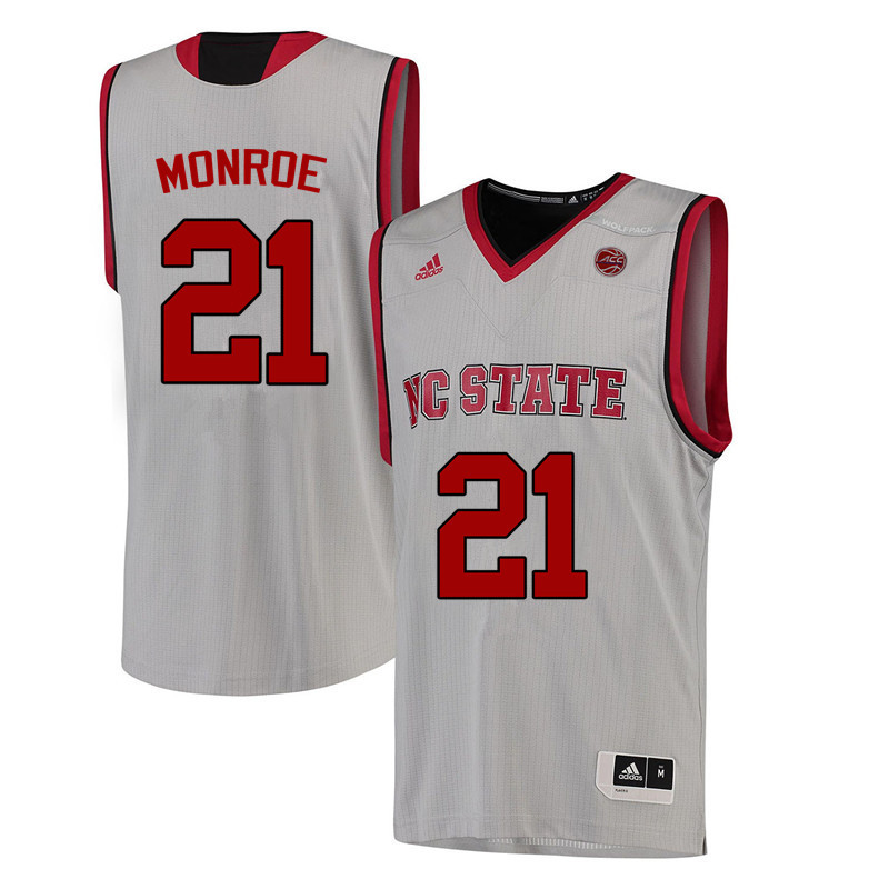 Men NC State Wolfpack #21 Rodney Monroe College Basketball Jerseys-White
