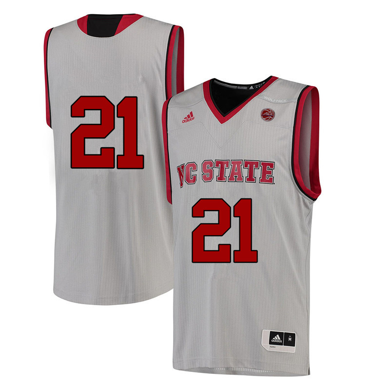 Men #21 Rodney Monroe NC State Wolfpack College Basketball Jerseys-White