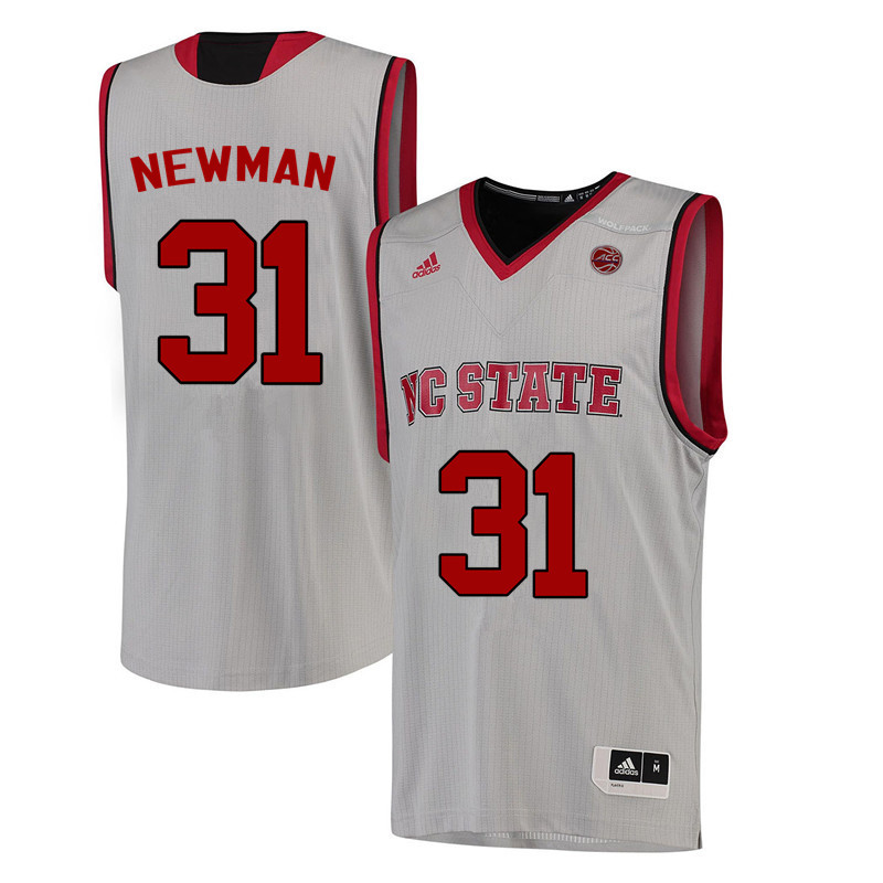 Men NC State Wolfpack #31 Spencer Newman College Basketball Jerseys-White