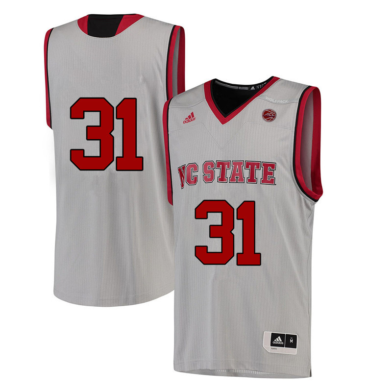 Men #31 Spencer Newman NC State Wolfpack College Basketball Jerseys-White