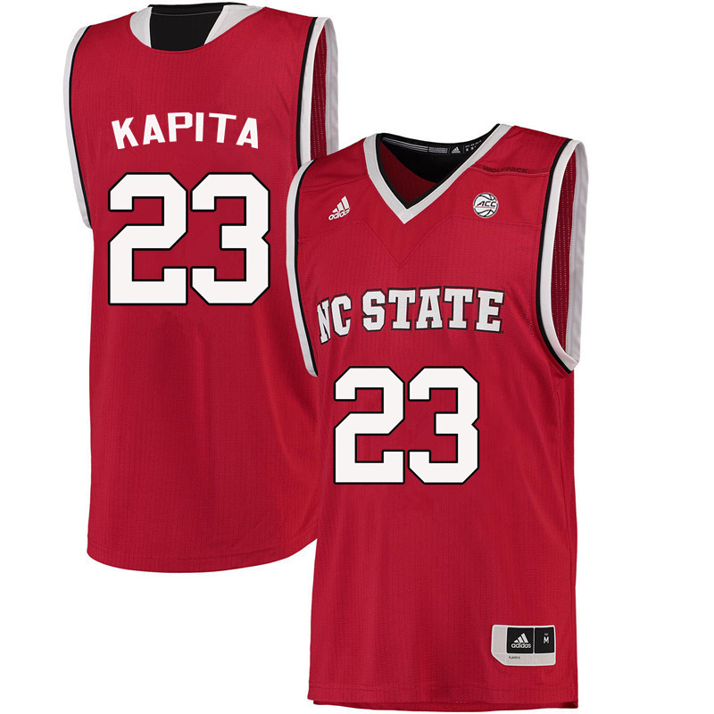 Men NC State Wolfpack #23 Ted Kapita College Basketball Jerseys-Red