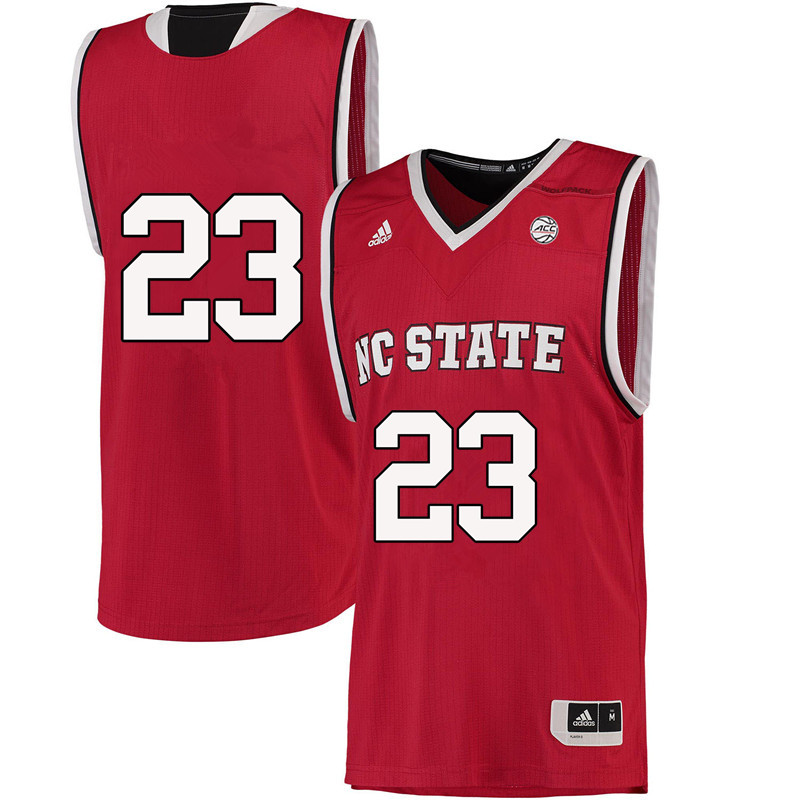 Men #23 Ted Kapita NC State Wolfpack College Basketball Jerseys-Red