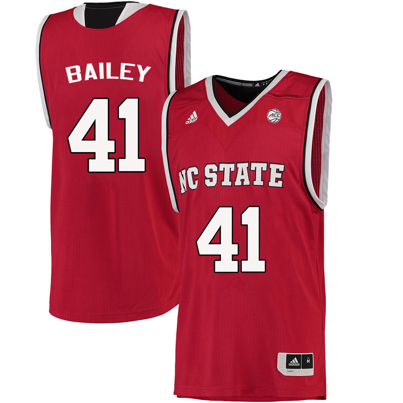 Men NC State Wolfpack #41 Thurl Bailey College Basketball Jerseys-Red