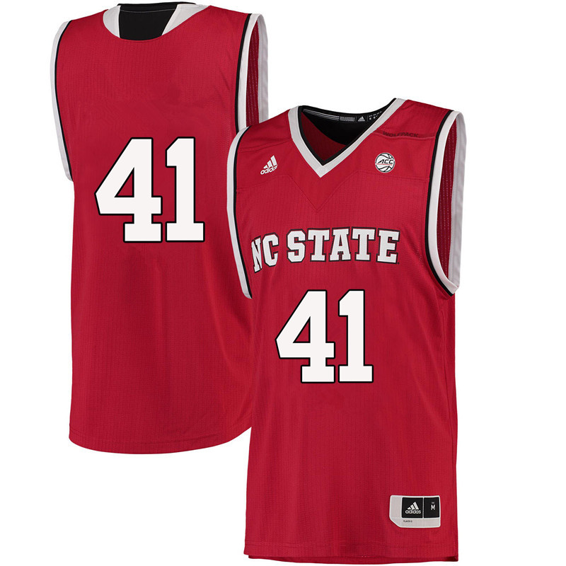 Men #41 Thurl Bailey NC State Wolfpack College Basketball Jerseys-Red