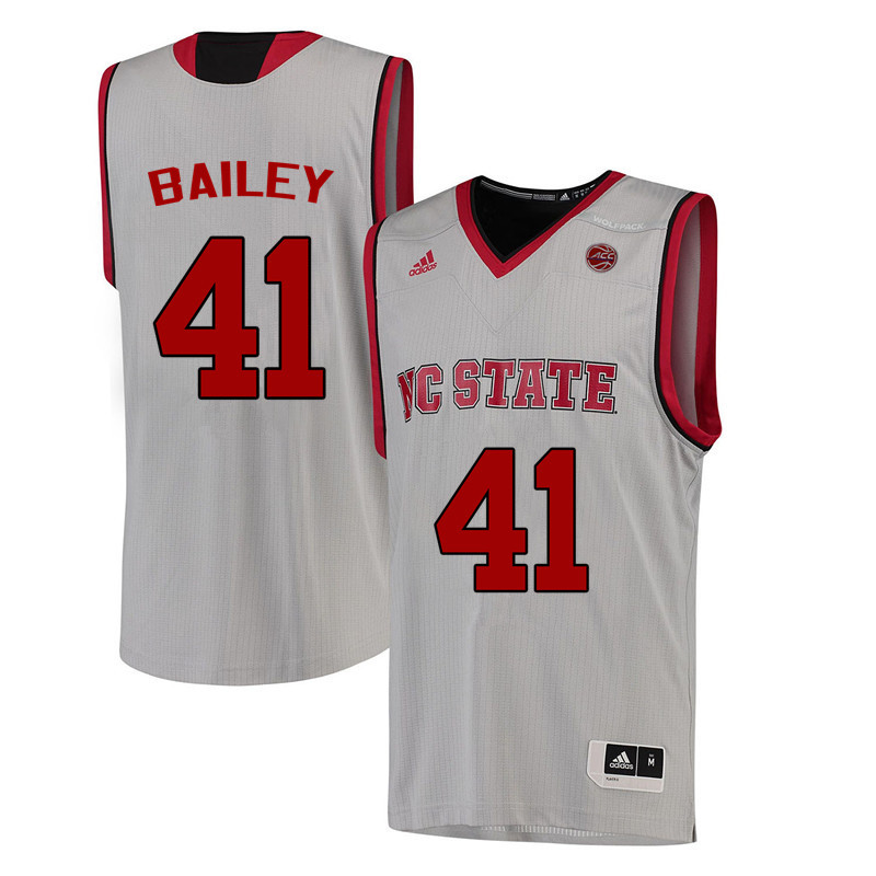 Men NC State Wolfpack #41 Thurl Bailey College Basketball Jerseys-White
