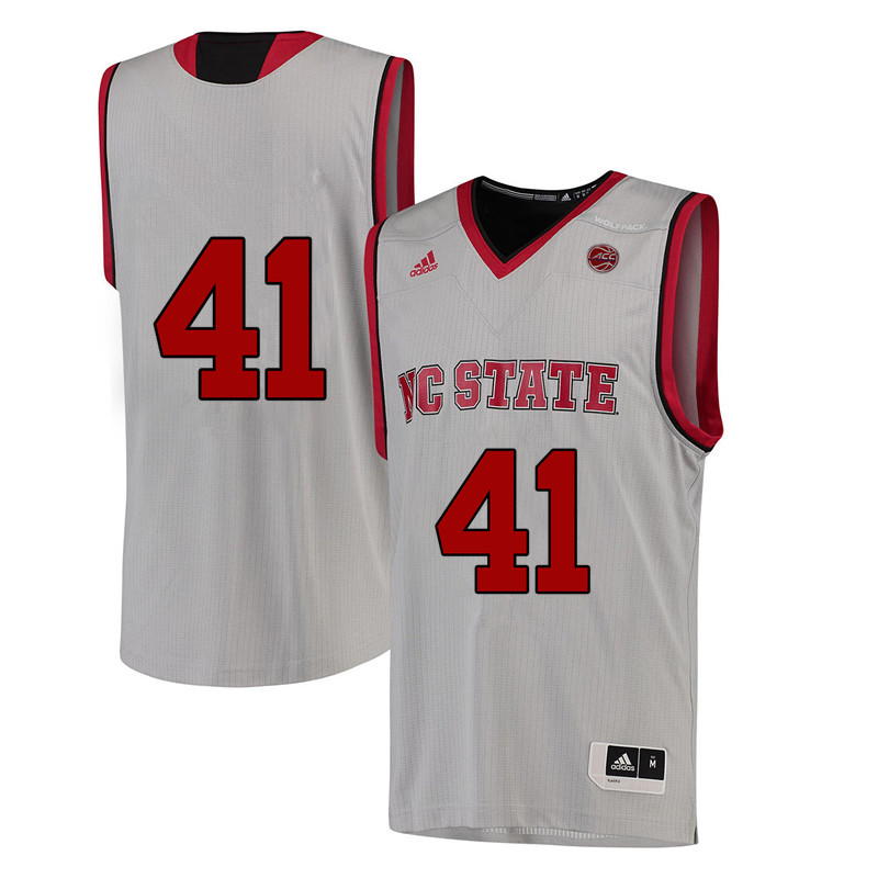 Men #41 Thurl Bailey NC State Wolfpack College Basketball Jerseys-White